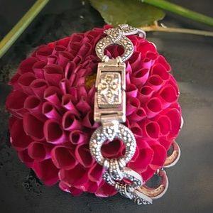 Antique Jewelry - Antique Art Deco sterling marcasite bracelet 925